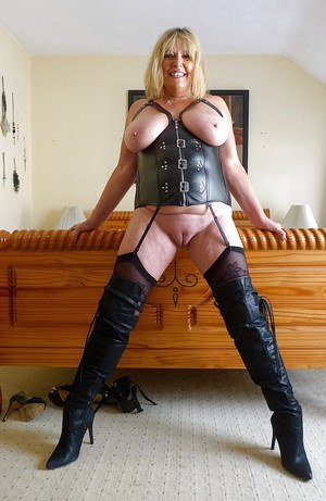 Women naked in boots mature
